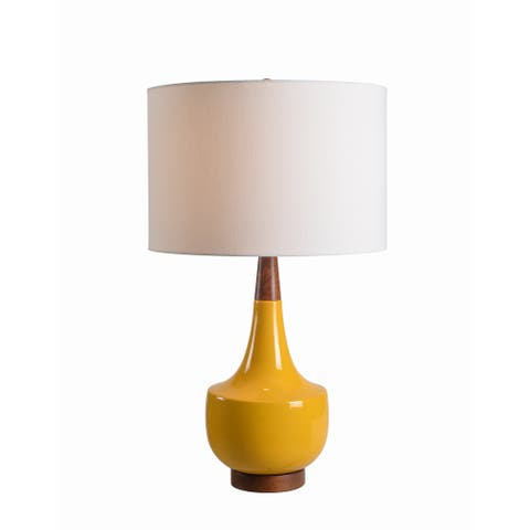 "Marlo 26"" Table Lamp - Mustard Ceramic"