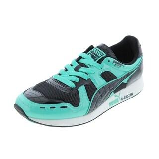 Puma Mens RS100 Opulence Leather Signature Running, Cross Training Shoes