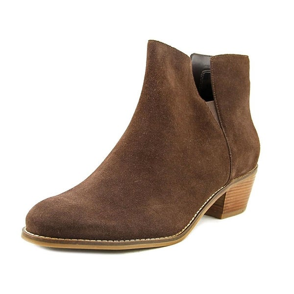Cole Haan Suede Round-Toe Booties cheap top quality free shipping pre order cheap Manchester 2nRiIC