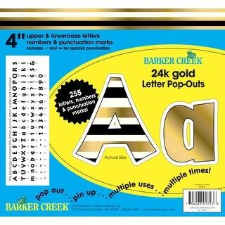 Barker Creek 24k Gold Foil Letter Pop-Outs, 4 Inch