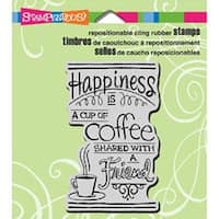 """Shared Coffee - Stampendous Cling Rubber Stamp 3.5""""X4"""" Sheet"""