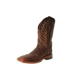Tony Lama Mens Worn Goat Leather Mid-Calf Cowboy, Western Boots