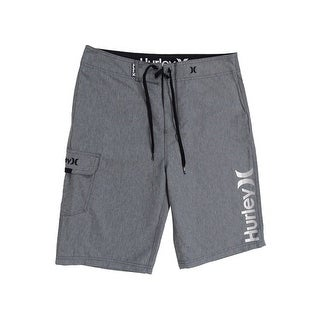 """Hurley Men's One and Only Supersuede 22""""Boardshorts (30, Grey) - Grey - 30"""