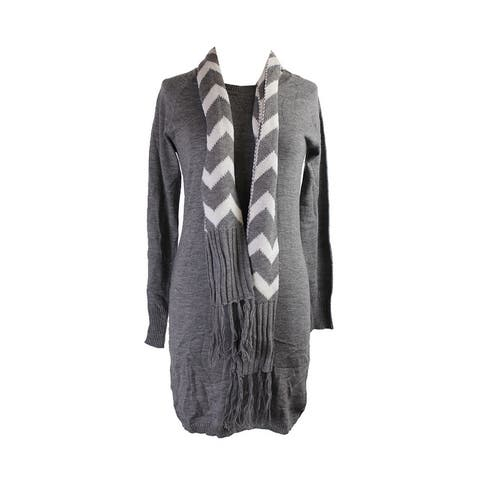 Energie Juniors Grey Heather Sweater Tunic And Scarf S