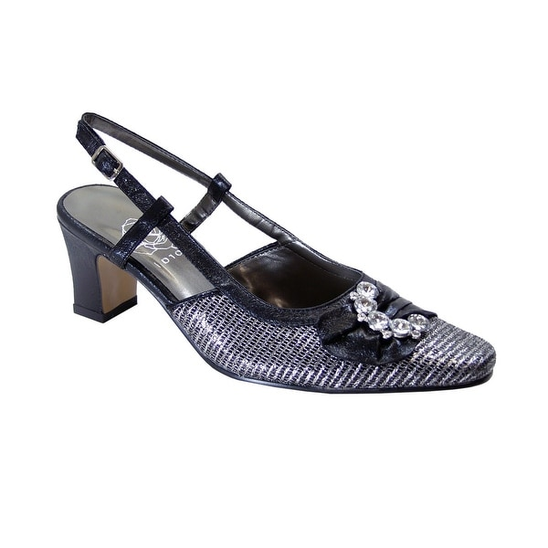 FLORAL Clea Women's Extra Wide Width Dress Slingback Metallic Shoes. Opens flyout.