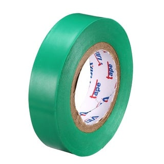 """PVC Electrical Insulating Tape Single Sided 21/32"""" Width 49ft 6mil Green - 6 mil Thick, Green"""