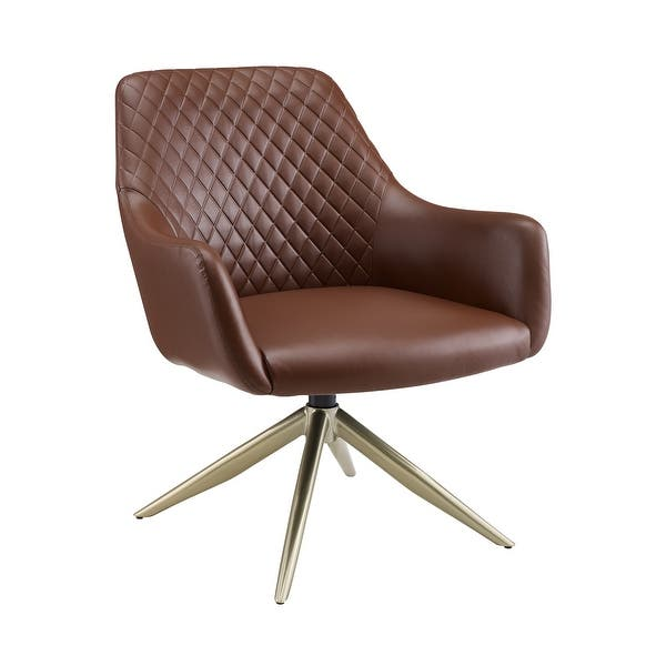 Art Leon Swivel Accent Chair With Metal Base Overstock 31836290
