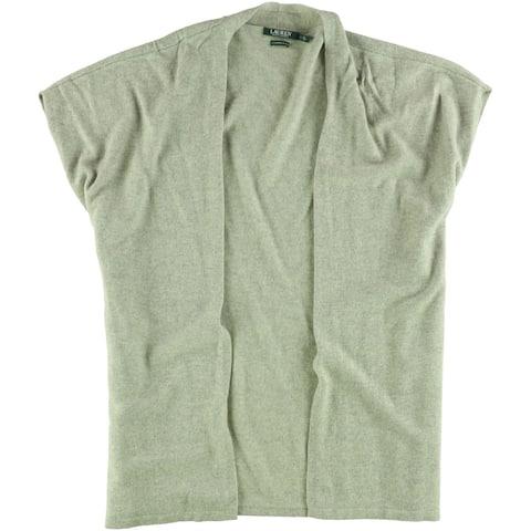Ralph Lauren Womens Wool Blend Cardigan Sweater, Grey, Large