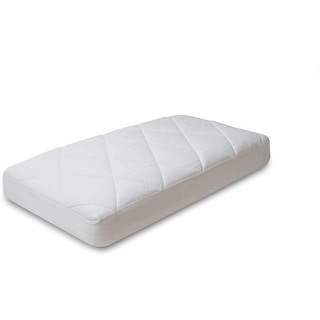 Link to Luxurious Fitted Down Alternative Infant Toddler Crib Mattress Pad 100% Cotton Top 300 Thread Count, Allergy Free - White Similar Items in Mattress Pads