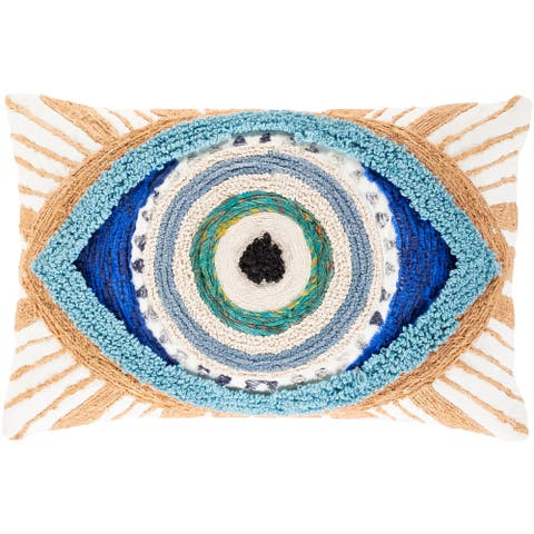 Mira Boho Evil Eye 14x22-inch Lumbar Throw Pillow