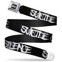 Suicide Silence Full Color Splatter Black White Suicide Silence Splatter Seatbelt Belt