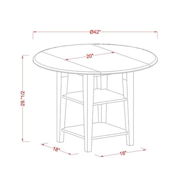 Sufl5 Lwh 01 5 Pc Dining Table Set 4 Person Dining Chairs And Two Shelves Small Round Table Linen White Finish Overstock 32085527