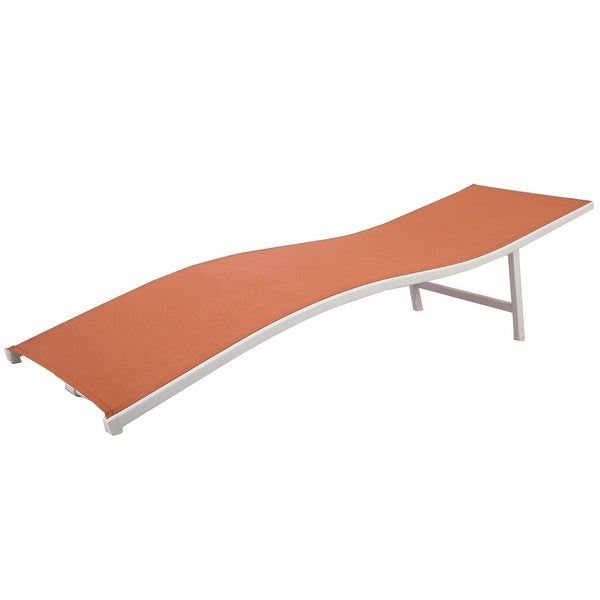 Gymax Lounger Patio Outdoor Chaise Lounge Chair Bed Orange