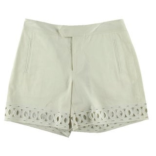 Catherine Malandrino Womens Twill Embroidered Dress Shorts - 4