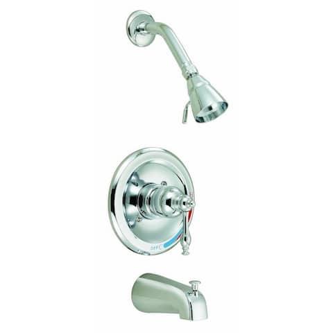 Design House 528075 Saratoga Tub and Shower Faucet Polished Chrome - Polished Chrome