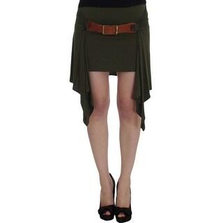 PLEIN SUD PLEIN SUD Green Mini Pencil Stretch Skirt
