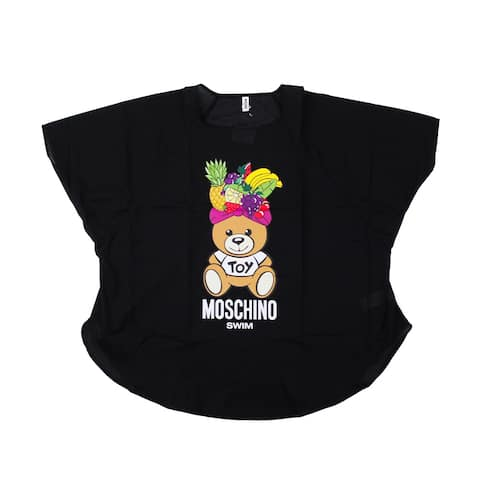 Moschino Women's Cotton Fiesta Bear Cover Up Shirt Black