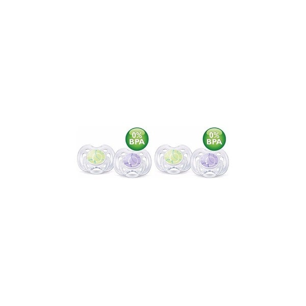 Avent SCF180/23 4-Pack Contemporary Freeflow Pacifier (0-6 Mo's)