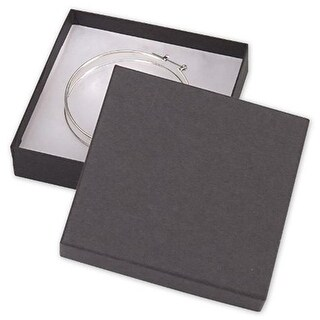 Bags & Bows by Deluxe Black Kraft Jewelry Boxes - Case of 100