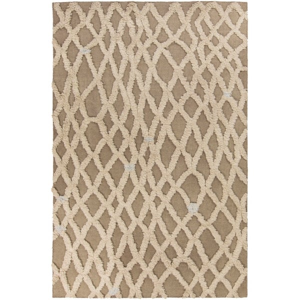 Hand-Woven Addisyn Geometric Wool Area Rug