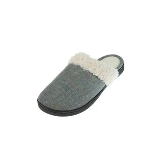 Isotoner Womens Clog Slippers French Terry Sherpa