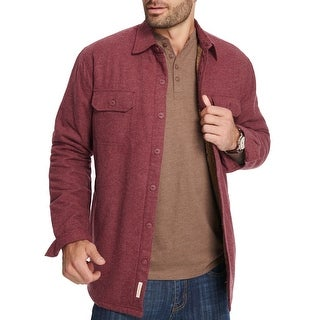 Weatherproof Burgundy Red Mens Size 2XL Fleece-Lined Shirt Jacket
