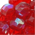 Czech Fire Polished Glass Beads 8mm Round Red Ruby AB (25) - Thumbnail 0
