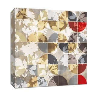 "PTM Images 9-146968  PTM Canvas Collection 12"" x 12"" - ""Golden Prism with Red II"" Giclee Flowers Art Print on Canvas"