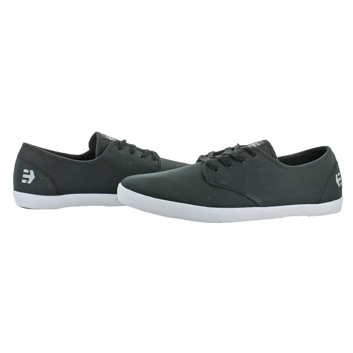 Etnies Patrol Mens Black Canvas Athletic Lace Up Skate Shoes