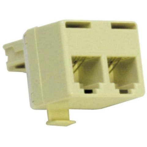 Suttle SE-267B Modular T Adapter Plugs Into Two Line Jack F/ Connecting 2 Phones - Multicolor
