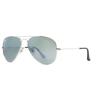 RAY-BAN Aviator RB 3025 Unisex W3277 Silver Silver Mirror Sunglasses - 58mm-14mm-135mm