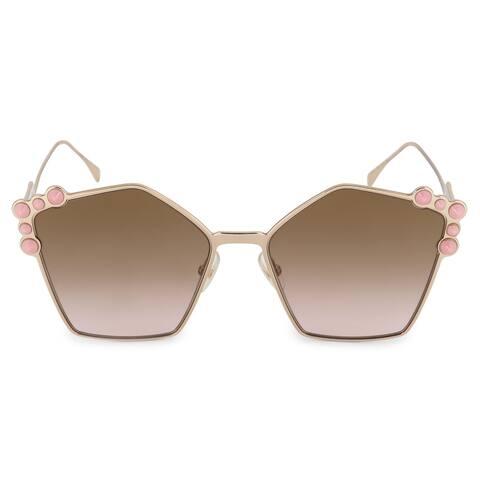 Fendi Can Eye FF 0261/S 000/53 57 Geometric Sunglasses - 57mm x 18mm x 145mm