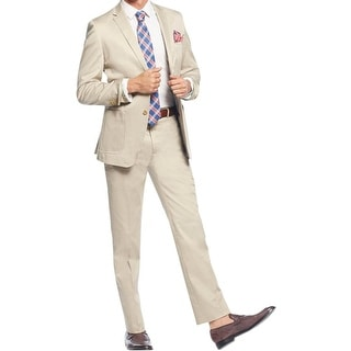 English Laundry Mens Two-Button Suit Slim Fit Twill