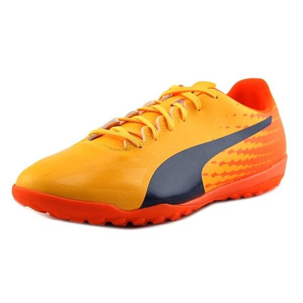 Puma EvoSpeed 17.4 TT Men Round Toe Synthetic Blue Sneakers