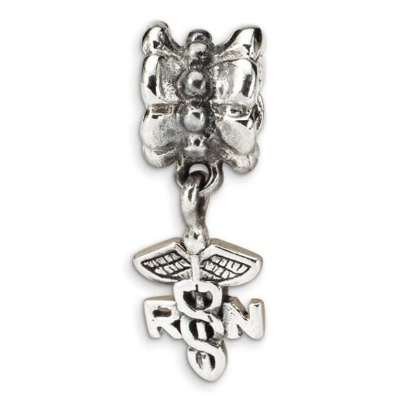 Sterling Silver Reflections Nurse Symbol Dangle Bead (4mm Diameter Hole)