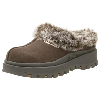 Skechers Womens Fortress Suede Lined Clogs - 5