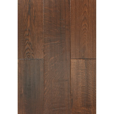 East West Furniture SP-7OH01 Interlocking Wood Floor Tiles - Engineered Hardwood Flooring for Indoor, Oak Chestnut Finish