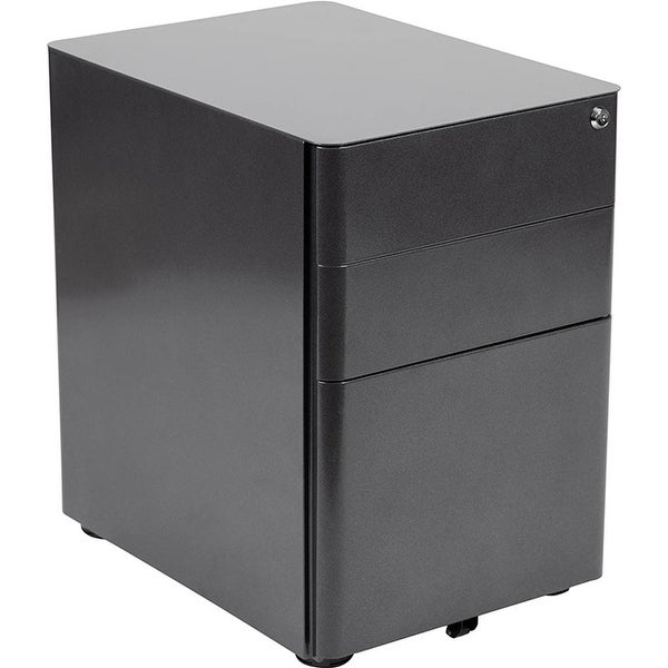 Shop Offex 3-Drawer Mobile Locking Filing Cabinet With