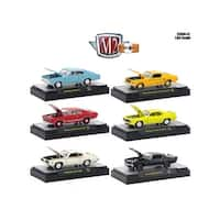 Detroit Muscle 6 Cars Set Release 42 IN DISPLAY CASES 1/64 Diecast Model Cars by M2 Machines