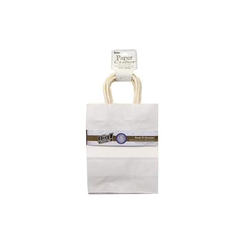 """Darice Paper Crafter Bag 8x10.25"""" Value Pk White"""