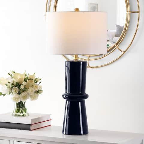"""SAFAVIEH Lighting 31-inch Ellaria Ceramic Table Lamp (Set of 2) - 15"""" x 15"""" x 31"""""""