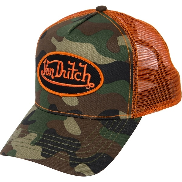 9cc5a6c0a225ec Shop Von Dutch Unisex Camo Trucker Hat, Adult, Army Camo Orange, Os - On  Sale - Free Shipping On Orders Over $45 - Overstock - 28163713