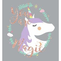 York Wallcoverings RMK3627GM RoomMates 6 Piece Unicorn Magic Repositionable Peel and Stick Wall Decals - gray
