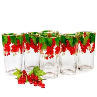 Link to STP-Goods Red Currant Highball Set of 6 Glasses Similar Items in Glasses & Barware