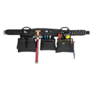 CLC 5605 Professional Carpenter's Combo Tool Belt, 18 Pockets, Large
