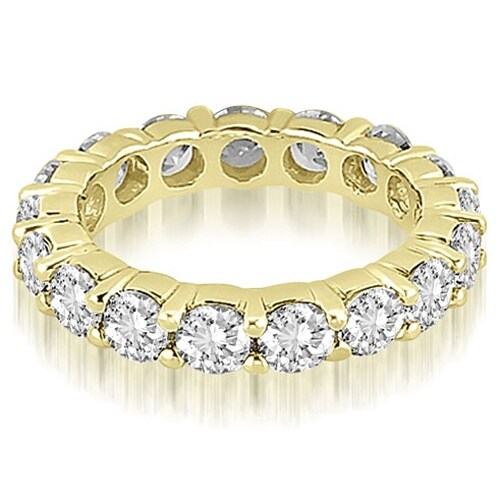4.80 cttw. 14K Yellow Gold Round Shared Prong Diamond Eternity Ring