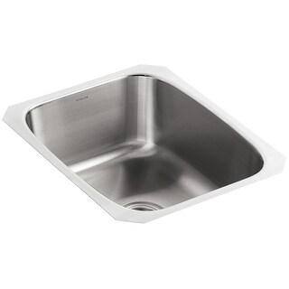 """Kohler K-3182  Undertone 16"""" Single Basin Under-Mount 18-Gauge Stainless Steel Kitchen Sink with SilentShield - Stainless Steel"""