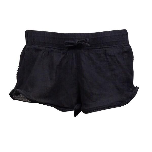 809b58971c Shop Roxy Women's Soft Crochet Crinkled Swim Short (XL, Black ...