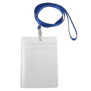 Unique Bargains Water Resistant Exhibition Card Pouch Holders 2 Pcs w Neck Strap