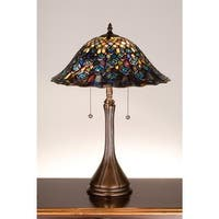 Meyda Tiffany 14574 Stained Glass / Tiffany Table Lamp from the Peacock Collection - n/a